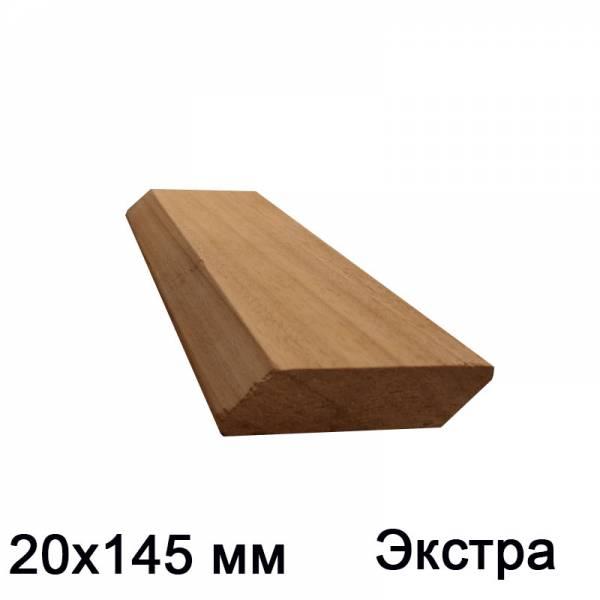 Планкен прямой из кедра сорт экстра, 20х145