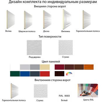 дизайн индивидуального комплекта секционных ворот