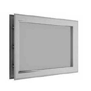 окно для секционных ворот - 452х302 мм, белое фото