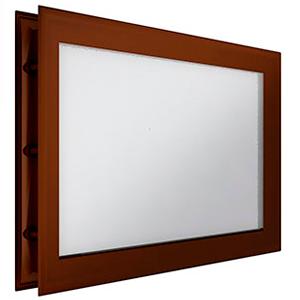 окно для секционных ворот - 452х302 мм, коричневое