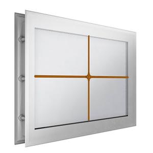 """окно для секционных ворот - 452х302 мм, белое, раскладка """"крест"""""""