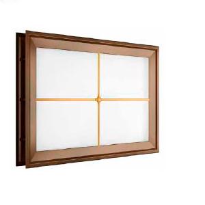 """окно для секционных ворот - 452х302 мм, коричневое, раскладка """"крест"""""""