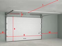 Измерение размеров проема и гаража изображение